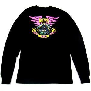 SANTACRUZ サンタクルズ NATAS PANTHER L/S TEE ナタス パンサー Tシャツ 長袖 カットソー プリントT トップス ブラック メンズ レディース|goldentijuana