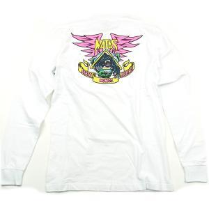 SANTACRUZ サンタクルズ NATAS PANTHER L/S TEE ナタス パンサー Tシャツ 長袖 カットソー プリントT トップス ホワイト メンズ レディース|goldentijuana