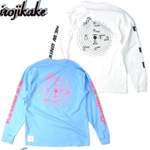irojikake イロジカケ IG1910-LT01 NEW UNIVERSE L/S TEE ニュー ユニバース ロングスリーブ Tシャツ ロンT プリント 長袖 メンズ レディース 2カラー|goldentijuana