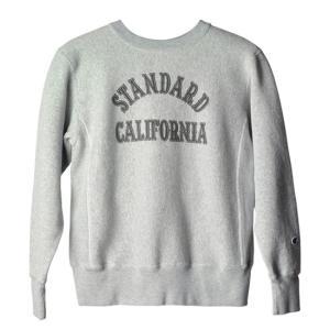 スタンダードカリフォルニア x チャンピオン リバースウィーブ スエット STANDARD CALIFORNIA x CHAMPION CREW SWEAT グレー