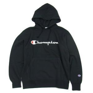 チャンピオン ベーシック ロゴ プルオーバー パーカ CHAMPION BASIC LOGO PARKA メンズ レディース ブラック セール 5%OFF
