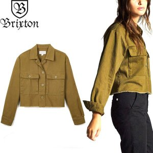 BRIXTON WOMENS ブリクストン ウィミンズ 01163 ABBOTT L/S OVER SHIRT アボット ロングスリーブ オーバー シャツ ジャケット レディース オリーブ 送料無料 goldentijuana