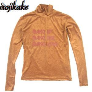 送料無料 irojikake イロジカケ IG1820-CT01 TIGHT SKIN TURTLE NECK SHIRTS タイト スキン タートルネック シャツ ブラウン レディース|goldentijuana