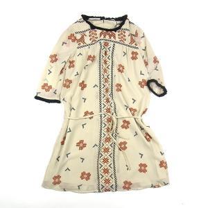 MAISON SCOTCH メゾンスコッチ FRINGE DRESS フリンジ ドレス ワンピース ベージュ レディース 45102|goldentijuana