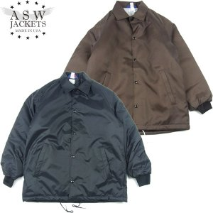 American Spirit Wear アメリカンスピリットウェア ASW Quilt Lined Coach Jacket キルト ライニング コーチ ジャケット メンズ 2カラー 送料無料|goldentijuana