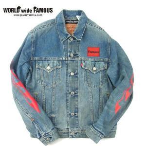 WORLD WIDE FAMOUS ワールドワイドフェイマス custom USED Denim Jacket MJ カスタム ユーズド デニム ジャケット メンズ レディース WWF-19SP039 送料無料|goldentijuana