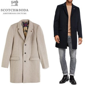 SCOTCH & SODA スコッチ アンド ソーダ CLASSIC COAT クラシック コート チェスター ウール ロング メンズ 2カラー 81100 送料無料|goldentijuana