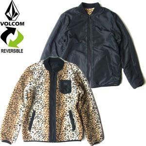 VOLCOM WOMENS ボルコム ウィミンズ H0152000 REVERSIBLE POLAR JACKET リバーシブル ポーラー ジャケット アウター レディース ブラック/レオパード 送料無料|goldentijuana