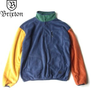 BRIXTON ブリクストン 02479 HIGGINS P/O FLEECE JACKET ヒギンス プルオーバー フリース ジャケット ALL TERRAIN メンズ マルチカラー 送料無料|goldentijuana