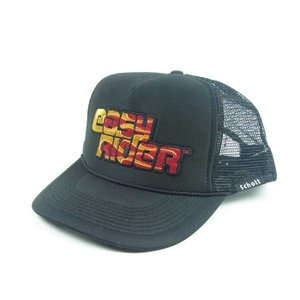 SCHOTT x EASY RIDER ショット イージーライダー MESH CAP メッシュ キャップ FLAME ファイヤー メンズ ブラック 3189018|goldentijuana