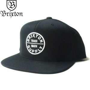BRIXTON ブリクストン 00173 OATH III SNAPBACK CAP オース 3 キャップ 帽子 スナップバック メンズ レディース ユニセックス ブラック|goldentijuana