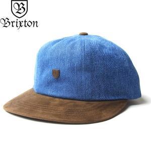 BRIXTON ブリクストン 00983 B-SIELD III STRAPACK CAP Bシールド 6 キャップ 帽子 ストラップバック メンズ レディース ユニセックス デニム|goldentijuana
