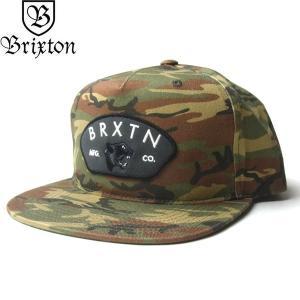 BRIXTON ブリクストン 10334 WAYLON MP SNAPBACK CAP ウェイロン キャップ 帽子 スナップバック メンズ レディース ユニセックス カモフラージュ|goldentijuana