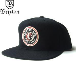 BRIXTON ブリクストン 00267 RIVAL SNAPBACK CAP ライバル キャップ 帽子 スナップバック メンズ レディース ユニセックス ブラック|goldentijuana