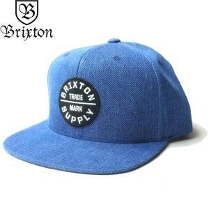 BRIXTON ブリクストン 00173 OATH III SNAPBACK CAP オース 3 キャップ 帽子 スナップバック メンズ レディース ユニセックス デニム|goldentijuana