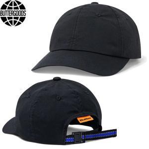 BUTTER GOODS バターグッズ CLIMATE 6 PANEL CAP ナイロン 6パネル キャップ ストラップバック メンズ レディース ブラック|goldentijuana