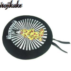 送料無料 irojikake イロジカケ BELLET HAT IG1810-CP01 ベレー帽 帽子 ミリタリータイプ プリント ブラック メンズ レディース ユニセックス|goldentijuana