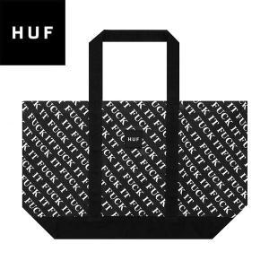 HUF ハフ FUCK IT TOTE BAG ファックイット トートバッグ トート バッグ 鞄 メンズ レディース ブラック AC00228SU19|goldentijuana