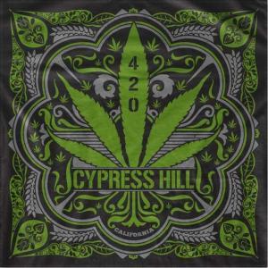 CYPRESS HILL サイプレスヒル 420 BANDANA LIMITED バンダナ メンズ レディース ブラック 1115101H00|goldentijuana
