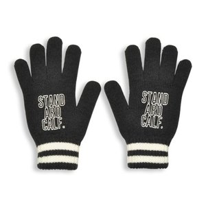 SALE!! セール!! STANDARD CALIFORNIA スタンダードカリフォルニア SD Logo Knit GLOVE ロゴ ニット グローブ 手袋 BLACK ブラック メンズ レディース|goldentijuana
