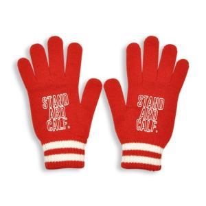 STANDARD CALIFORNIA スタンダードカリフォルニア SD Logo Knit GLOVE ロゴ ニット グローブ 手袋 RED レッド メンズ レディース|goldentijuana