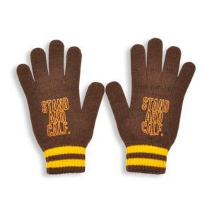 SALE!! セール!! STANDARD CALIFORNIA スタンダードカリフォルニア SD Logo Knit GLOVE ロゴ ニット グローブ 手袋 BROWN ブラウン メンズ レディース|goldentijuana