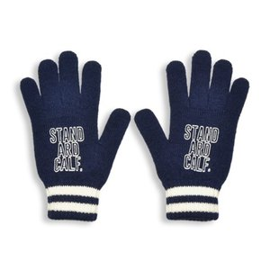 SALE!! セール!! STANDARD CALIFORNIA スタンダードカリフォルニア SD Logo Knit GLOVE ロゴ ニット グローブ 手袋 NAVY ネイビー メンズ レディース|goldentijuana