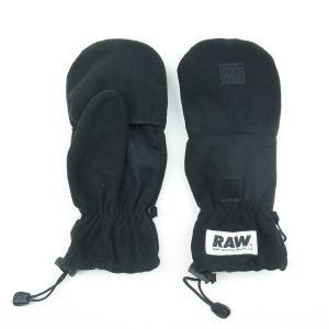 RAW ロウ LOGO ロゴ LABEL レーベル GLOVE グローブ 手袋 ブラック メンズ レディース|goldentijuana