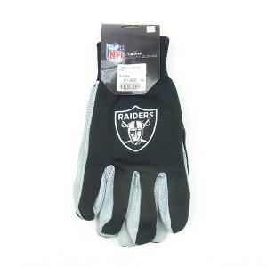 USA TEAM GOODS ユーエスエー チーム グッズ NFL UTILITY GLOVE ユーティリティー グローブ 手袋 RAIDERS レイダース ブラック メンズ|goldentijuana