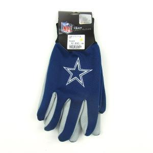 USA TEAM GOODS ユーエスエー チーム グッズ NFL UTILITY GLOVE ユーティリティー グローブ 手袋 COWBOYS カウボーイズ ネイビー メンズ|goldentijuana