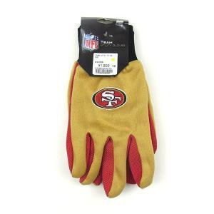 USA TEAM GOODS ユーエスエー チーム グッズ NFL UTILITY GLOVE ユーティリティー グローブ 手袋 49ers フォーティナイナーズ ベージュ メンズ|goldentijuana