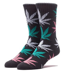 HUF ハフ PLANT LIFE CREW SOCKS CHARCOAL プラント ライフ クルー ソックス チャコール キース・ハフナゲル メンズ レディース 靴下 SK53001|goldentijuana