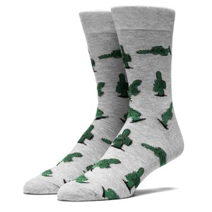 HUF ハフ PRICK CREW SOCKS GREY プリック クルー ソックス グレイ サボテン キース・ハフナゲル メンズ レディース 靴下 SK62026|goldentijuana