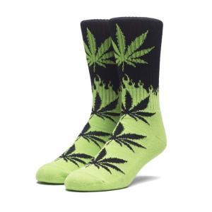 HUF ハフ FLAME PLANTLIFE SOCKS SK00223SP18 フレイム プラントライフ ソックス 靴下 ファイヤーパターン ブラック グリーン メンズ レディース ユニセックス goldentijuana