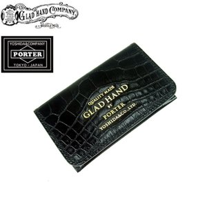 GLAD HAND x PORTER グラッドハンド ポーター BELONGINGS CARD CASE ビロンギング カードケース 財布 メンズ クロコ GH-BELONGINGS-CARDCASE 送料無料 goldentijuana