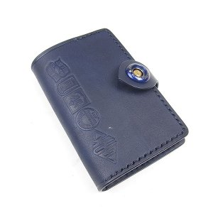 GROK LEATHER BIZ CARD CASE グロック レザー ビズ カードケース メンズ BENCH MADE GINZA ベンチメイド 銀座 革 NAVY ネイビー|goldentijuana