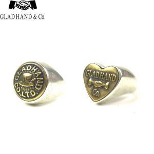 GLAD HAND グラッドハンド BUTTON RING S HAT HEART ボタン リング ハット ハート メンズ アクセサリー ギフト 2タイプ 送料無料 goldentijuana