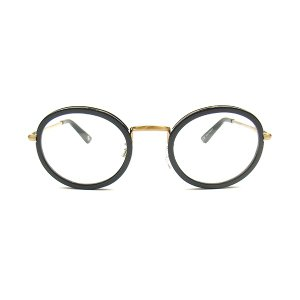 BLACK FLYS ブラックフライズ FLY BARON フライ バロン メタル テンプル 丸眼鏡 ブラック / A.GOLD / CLEAR サングラス BF-1589-01431 送料無料|goldentijuana