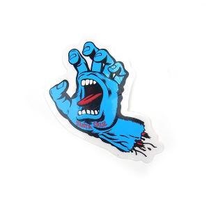 SANTACRUZ サンタクルーズ SCREAMING HAND スクリーミング ハンド STICKER スクリーミング ハンド ミニ ステッカー BLUE ブルー|goldentijuana