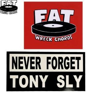 FAT WRECK CHORDS ファット レック コーズ STICKER ステッカー メロコア トニースライ メンズ レディース 2タイプ|goldentijuana