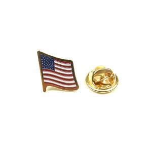 ROTHCO ロスコ USA FLAG PIN BADGE 星条旗 ピンバッチ バッチ ラペルピン トリコロール メンズ レディース|goldentijuana