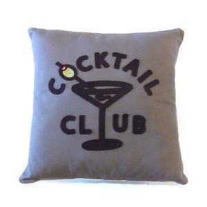 GOOD WORTH グッドワース COCKTAIL CLUB PILLOW カクテル クラブ ピロー クッション クッションカバー 刺繍 メンズ レディース|goldentijuana