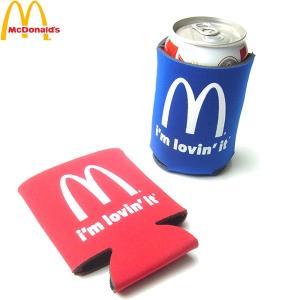 McDonald マクドナルド MC I'm lovi'n it CAN COOLER COOZY カン クーラー クージー マック メンズ レディース レッド ブルー 海外限定|goldentijuana