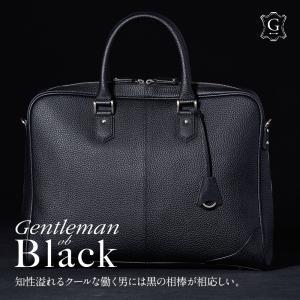 ビジネスバッグ 本革 メンズ ブリーフケース シュリンク レザー バッグ 牛革 大きめ Mens 通勤 シンプル 鞄 A4 B4 保護性の強いシュリンクレザー GA003 GOLDMEN|goldmen
