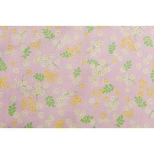 ダブルガーゼ/Wガーゼ/約80cmカット済み/50cm巾/コスモテキスタイル/ピンク/花柄|goldplants-et