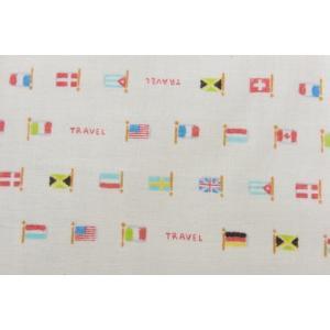 ダブルガーゼ/Wガーゼ/約100cmカット済み/110cm巾/コスモテキスタイル/世界の国旗シリーズ|goldplants-et