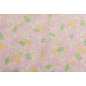 ダブルガーゼ/Wガーゼ/約100cmカット済み/110cm巾/コスモテキスタイル/ピンク/花柄|goldplants-et