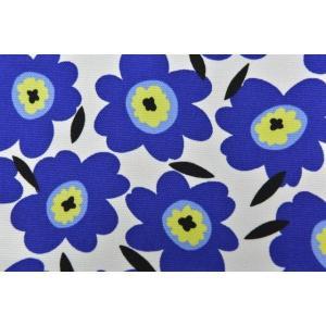 【生地】カットクロス、マリメッコ風、花、はな、キャンパス地、約50cmカット済み110cm巾|goldplants-et