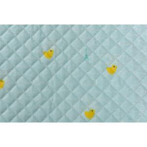 【生地】【布】切り売りキルティング ラ、コットパリ 雲、ひよこ 35cm巾/ 50cm以上10cm単...