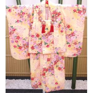 【レンタル】レンタル着物、七五三着物小物セット付き、三歳被布セット|goldplants-et